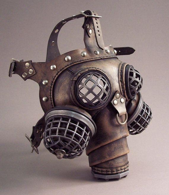 ɛïɜ Ragnarok Gas Mask -- Steampunk Leather ~ Tom Banwell Designs *** Leather…