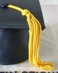 how to make a graduation cap cake topper - Google Search (Luau Food Cake Mixes)