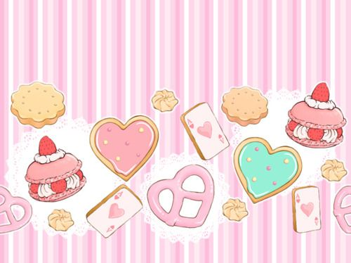 Kawaii kawaii background kawaii and pattern wallpaper - Kawaii food wallpaper ...