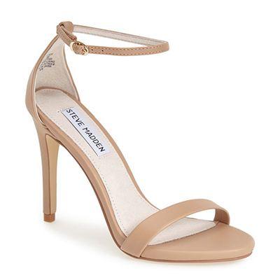 Steve Madden 'Stecy' Sandal, nude heeled sandal, nude ankle strap sandal, nude ankle strap heeled sandal, neutral heeled sandal, neutral heels, nude heels, neutral ankle strap sandal, neutral ankle strap heeled sandal