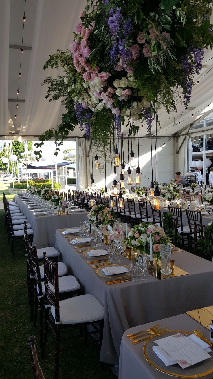 Marquee Wedding, Floral Installation by Poppys Flowers