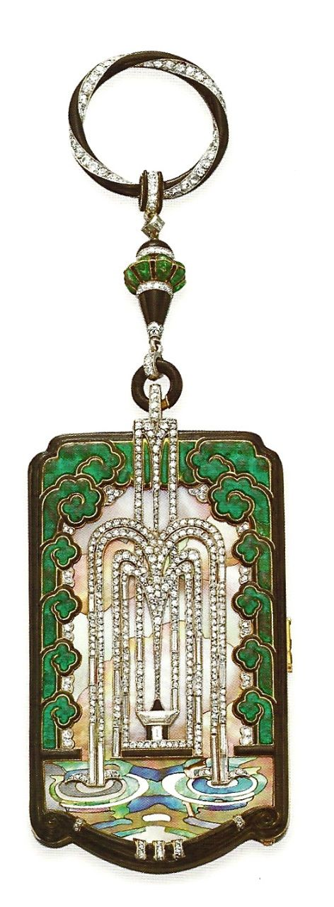 Art Deco Vanity Case-Ralph Esmerian's Art Deco Mauboussin Paris vanity case belonged to the French world famous pre-war dancer and chanteuse Mistinguett