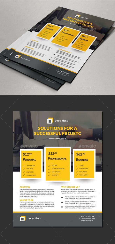Multipurpose Flyer Price Designs — Photoshop PSD #technic #corporate • Avail...