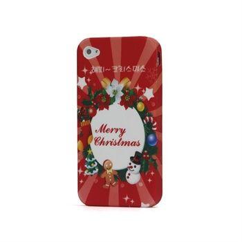 TPU Deksel til iPhone 4/4S - Shining Merry Christmas
