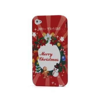 TPU Deksel til iPhone 4/4S - Shining Merry Christmas