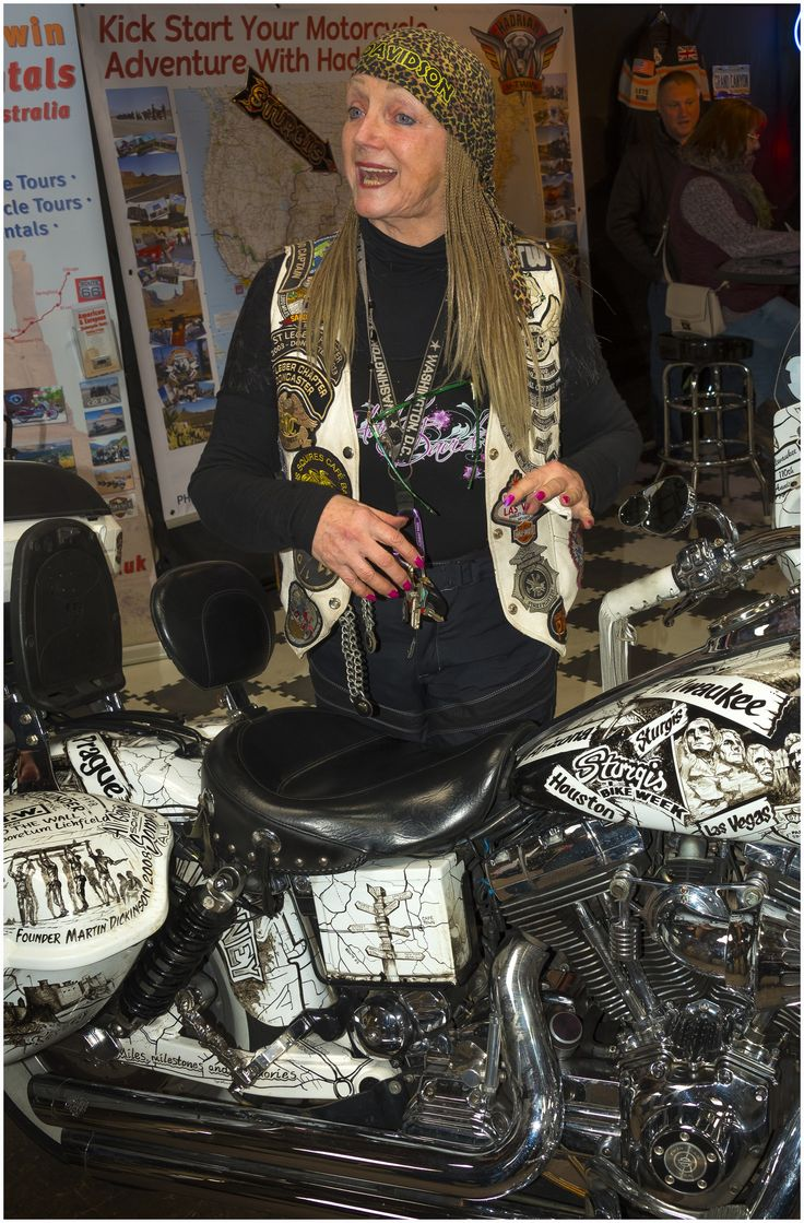 https://flic.kr/p/TX27yT | Biker chick, Classic Bike Show, Stafford 2017 | This lady sold her house to buy the bike and fund her travels around America, I'd like to do that and buy a coal mine. I wonder if she needed a rebore after her travels?