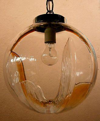 Lampada vintage anni 70 per una casa dal gusto eccentrico. Lampadario Lampada A Sospensione Mazzega Anni 60 70 Vetro Di Murano 3 Lampade A Sospensione Lampade Lampadario