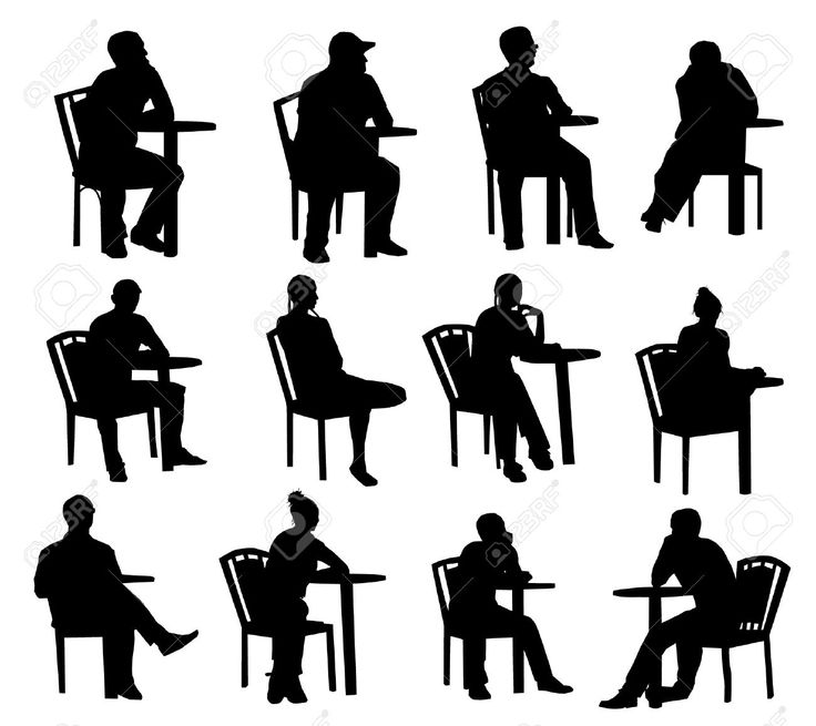 people sitting on chairs png