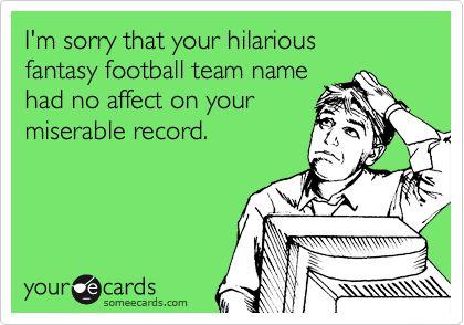 Hilarious Fantasy Football Team Name Ideas for 2013