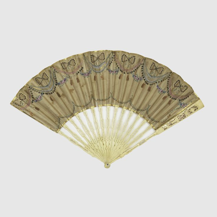 Folding Fan And Case, 1790–1800