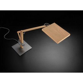 Nowoczesna lampa biurkowa Leva - producent Leucos. #Leucos #Leva #lampa_biurkowa #nowoczesne_oświetlenie #drewno #wood #light #lampy_kraków #lampy_abanet #abanet_kraków