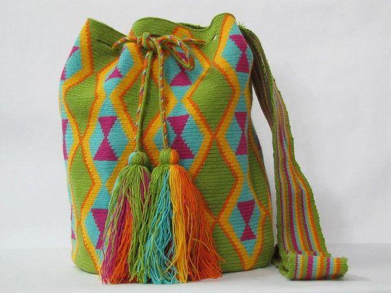 Mochila Tribal Bag Wayuu Sac a Main Wayuu tote by PavanaFit