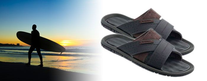 Dunas Slide The most popular casual sandal turned into an easy to wear slide! A synthetic-leather upper lends a contemporary feel, while the soft, waffle-textured EVA insole provides all day comfort.