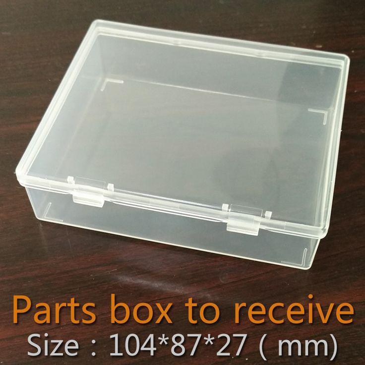Bagian kotak dilipat Kotak persegi panjang Plastik Transparan Plastik Kotak Penyimpanan Kontainer Kosong Komponen Perhiasan Sekrup Alat