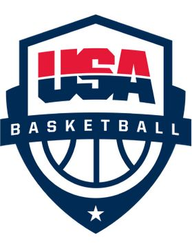 """New USA basketball logo '' It's actually a highly energetic and aggressive rendition of """"USA"""". I love how it """"points"""" up; a nice allusion to the fact that these people can literally jump over you. ''"""