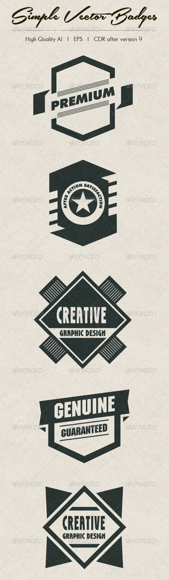 Simple Vector Badges