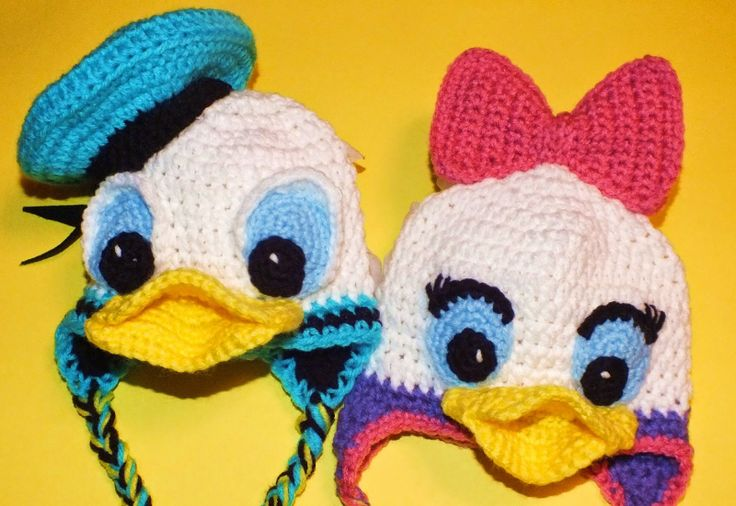 Connie's Spot© Crocheting, Crafting, Creating!: Crochet Donald & Daisy Duck Inspired Hats©
