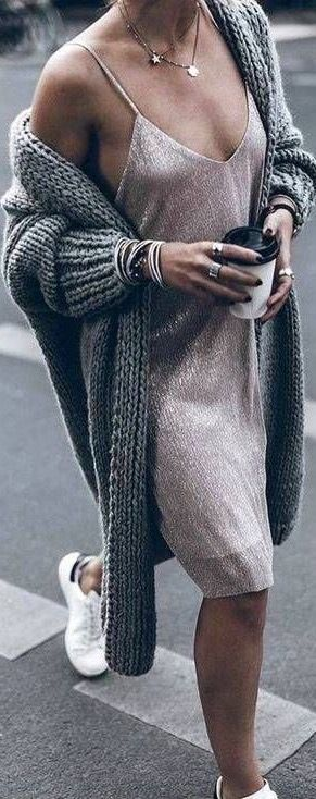Winter is complete with this cute knitted cardigan