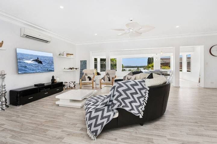 Bright, open family living with a beach feel. Beautiful coastal home ideas. http://www.smith-sons.com.au/