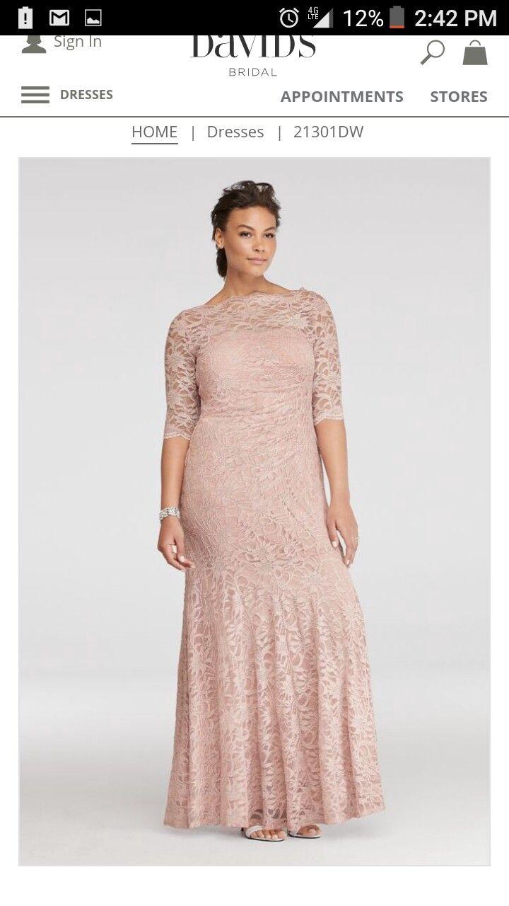 Dusty Rose Wedding Dress