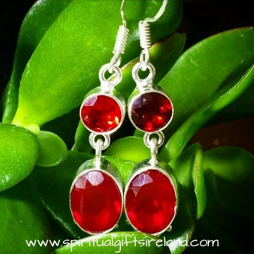 Handcrafted Garnet Earrings Visit our store at www.spiritualgiftsireland.com  Follow Spiritual Gifts Ireland on www.facebook.com/spiritualgiftsireland www.instagram.com/spiritualgiftsireland