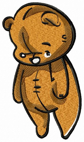 Old plush teddy bear machine embroidery design. Machine embroidery design. www.embroideres.com