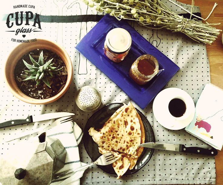 Breakfast Plates by www.cupa.glass
