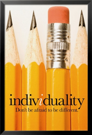 This artwork shows me to be individual rather than following the social norm in society. The sharpened pencils are trying to show some of the people who are striving for perfection. The pencil that is showing the eraser is showing that people do make mistakes.