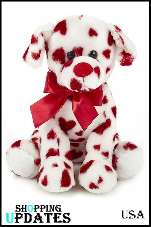 Romantic Rover Valentines Plush Stuffed Animal Puppy Dog With