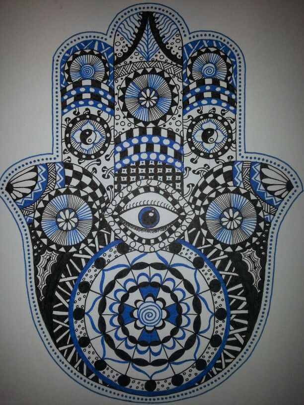 Hamsa Hand Doodle Zentangle Backgrounds Wallpapers