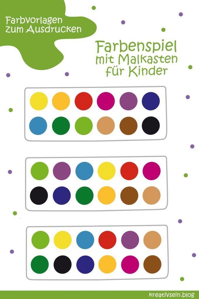 Farben Lernen Spiel Farben Lernen Lernen Farben Mit Kindern
