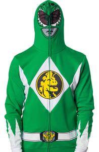 Power Rangers Green Ranger Costume Hoodie