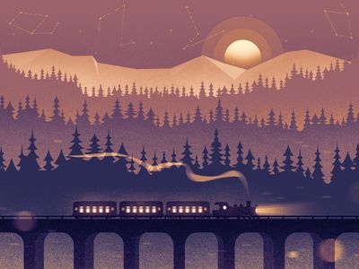 Social Header — Winter Train