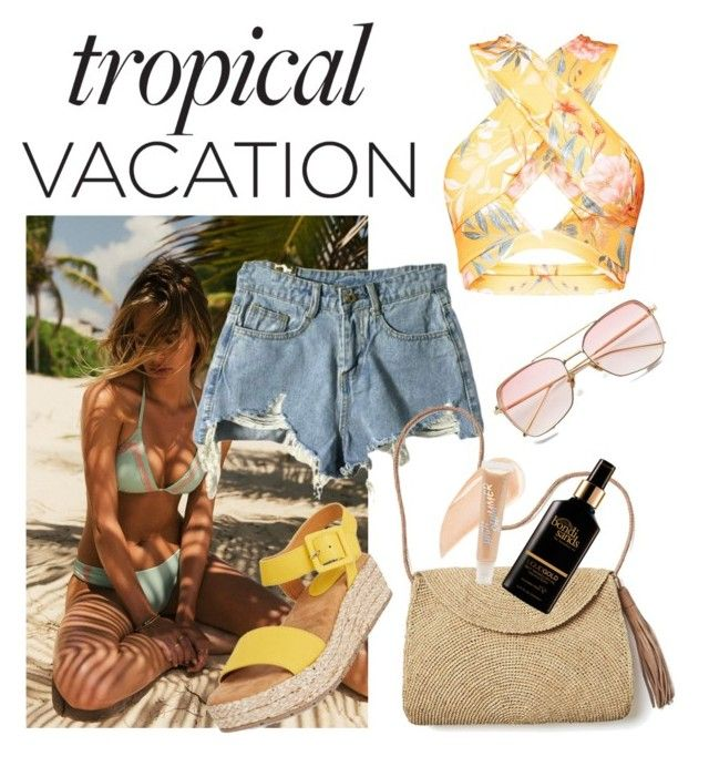"""""""Tropicana!"""" by alana-alford on Polyvore featuring Heller, Mar y Sol, Kenneth Cole Reaction, Bondi Sands, Kevyn Aucoin and Forever 21"""