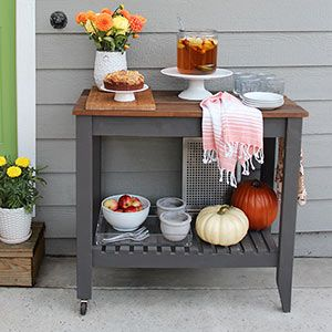 When this TOH reader couldn't find an outdoor serving cart that was exactly what she wanted, she naturally decided to build one herself, using stock lumber and her handy pocket-hole jig. For the full how-to, visit her blog @ http://www.chiclittlehouse.com/2015/06/diy-grill-cart.html