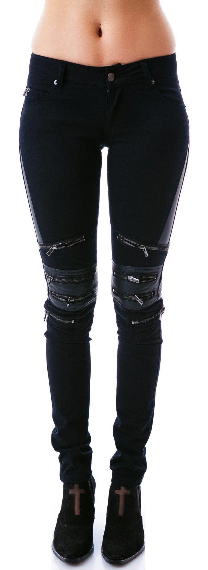 Tripp NYC Zip Protector Jeans | Dolls Kill $98.00