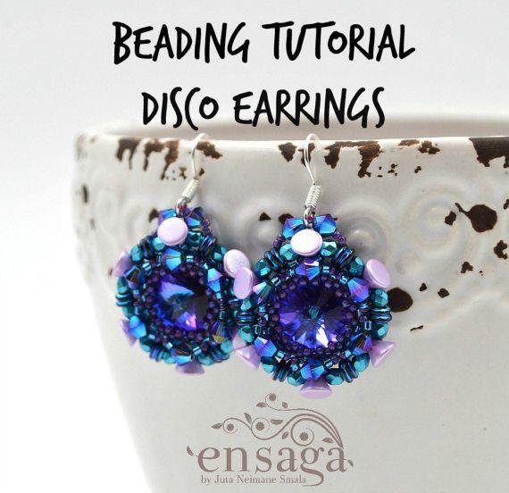 Beading tutorial DIY earrings pattern Instructions for