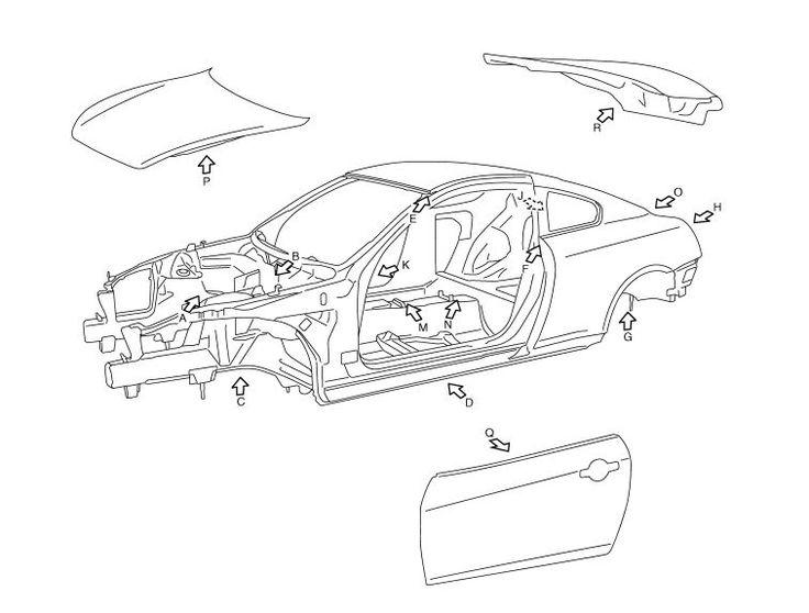 Infiniti G37 (CV36) Coupe EBRM BODY EXTERIOR, DOORS, ROOF