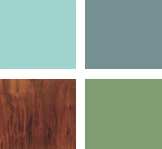 Яркая цветовая схема для ванной