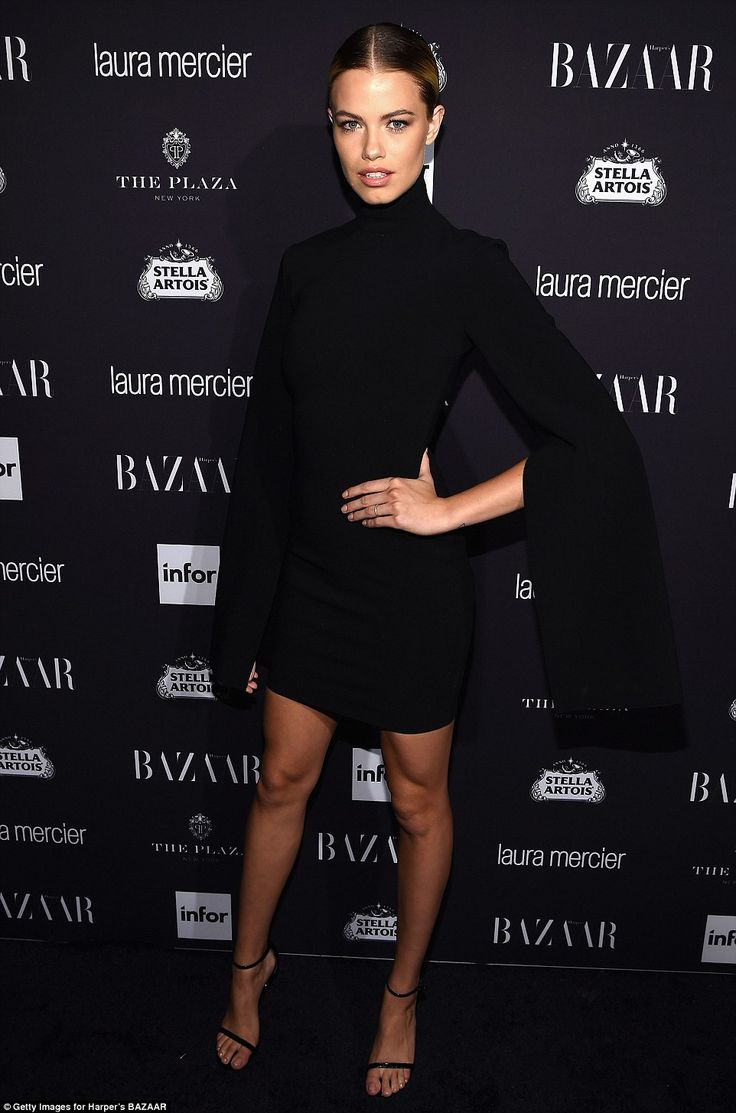 All black everything: Sports Illustrated cover girl Hailey Clauson looked every…