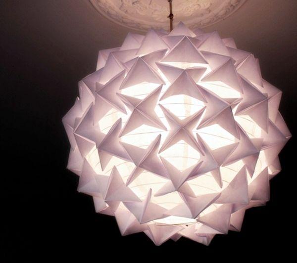 Luminária Origami Aulas de Artesanato, Dicas e Ideias.