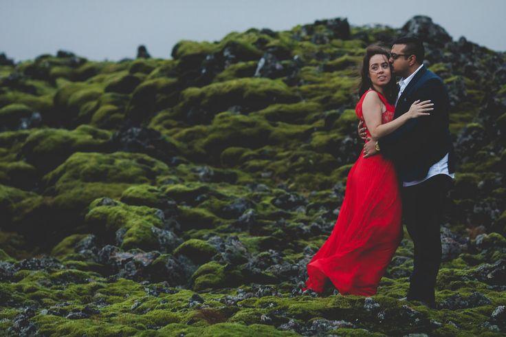 Arjun and Amanda on #sellfoss moss covered rocks in Iceland www.bigalstudios.ca #seljalandsfoss #seljalandsfossfalls #skogafossfalls #skogafoss #thatreddress #reddressiceland #icelandengagementshoot #icelandphotoshoot #icelandweddingpictures #internationalweddingphotographer #torontoweddingphotographer #destinationweddingphotographer #eshootideas #wowair #bluelagoon #wheniniceland #reykjavik #bigalstudiostoronto