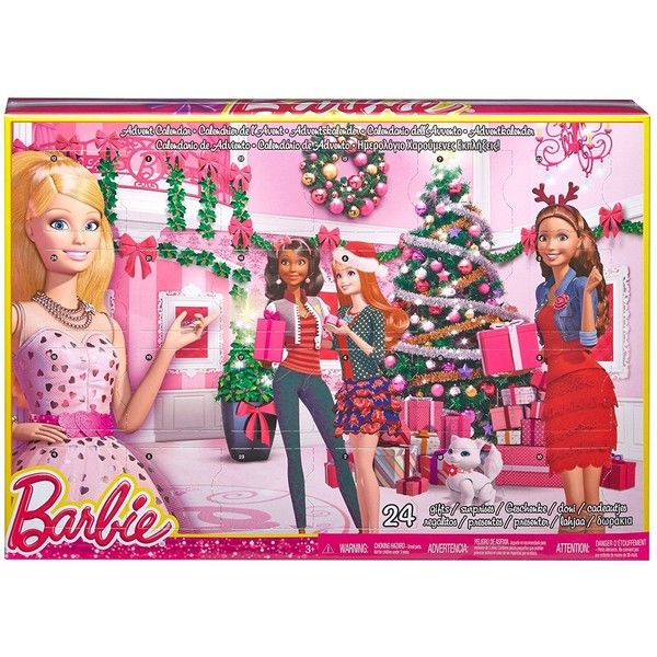 Barbie Advent Calendar ($25) ❤ liked on Polyvore featuring home, home decor and holiday decorations