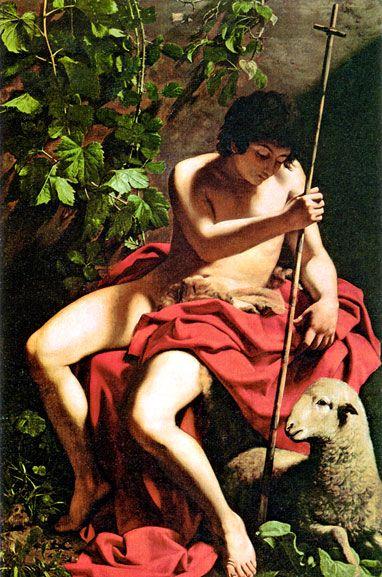 San Giovanni Battista, 1598 ca. Oil on canvas (169x112 cm). Museo del Tesoro della Catedral Primada, Toledo, España.