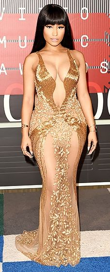 Nicki Minaj: VMAs 2015 // we love Nicki's golden look!