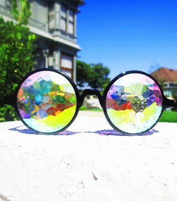 kaleidoscope glasses future eyes