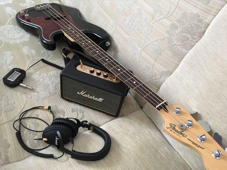 Marshall Kilburn Marshall monitor headphones Fender Precision Bass Korg Pandora mini