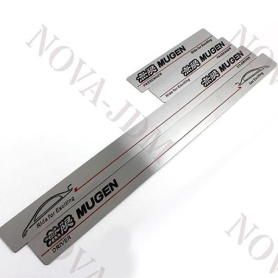 Stainless Steel Door Sill Scuff Plate Protector Fit For Honda Civic 2012-2015