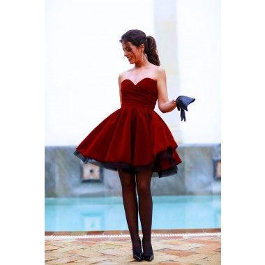 Vestido Terciopelo burdeos Mod. Elegance