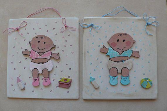 Nursery Bedroom Sign/Baby Girl Boy/Princess /king/Pink Light Blue/Personalised Baby gift Plaque/Girl's Bedroom Decor/Wall Hanger Decorative/